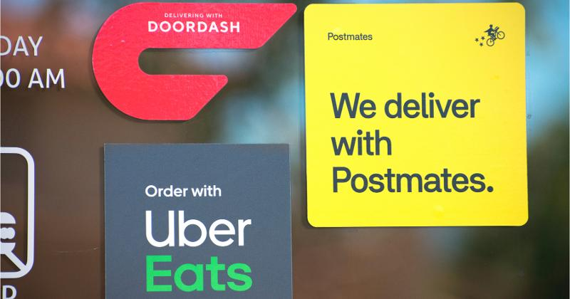 Delivery company stickers
