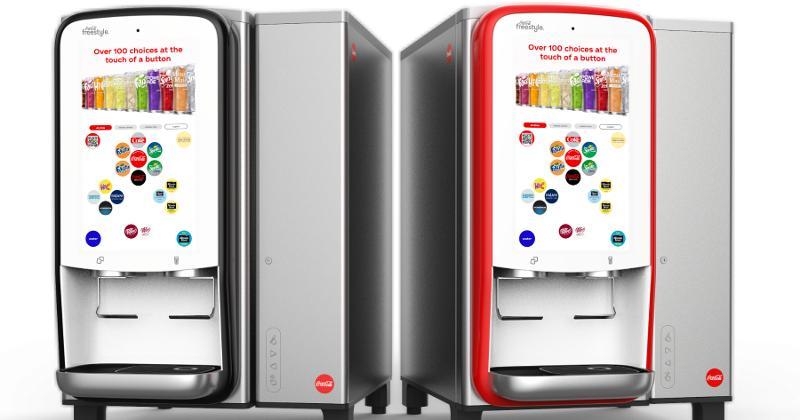 Coca-Cola Freestyle 7100 contactless countertop fountain dispenser