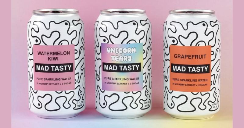 Mad Tasty hemp-infused pure sparkling water cans