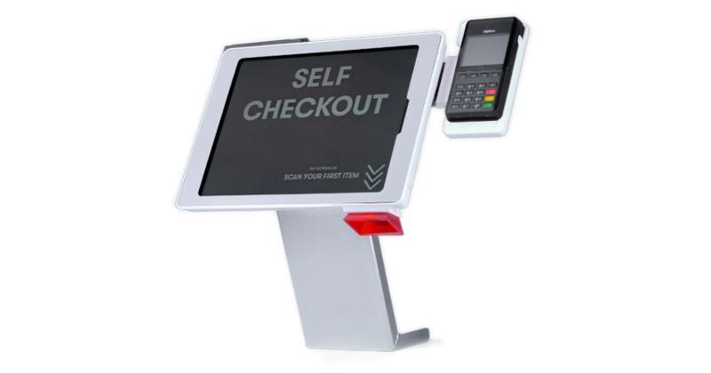 convenience store checkout kiosk