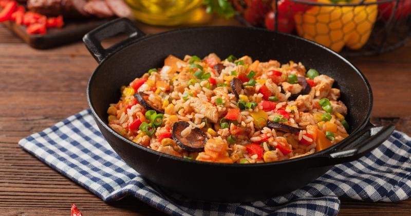 Jambalaya in a wok