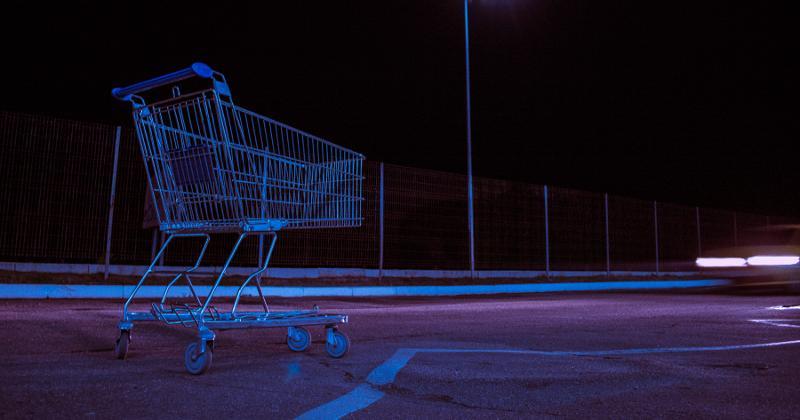 Dark shopping cart