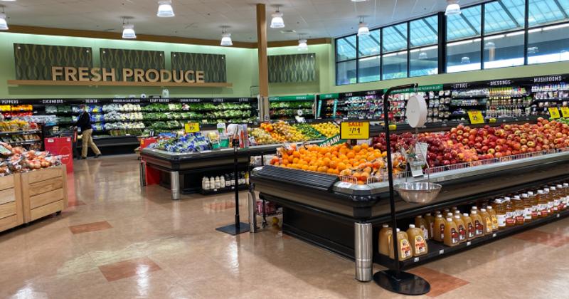 Supermarket produce section