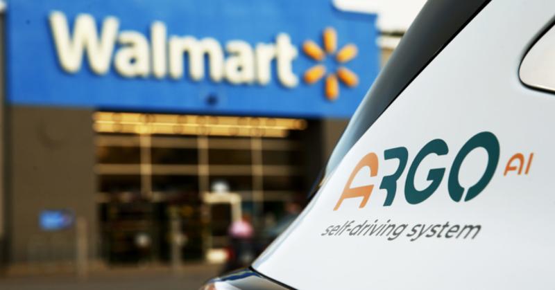 Walmart with Argo AI driverless vehicle