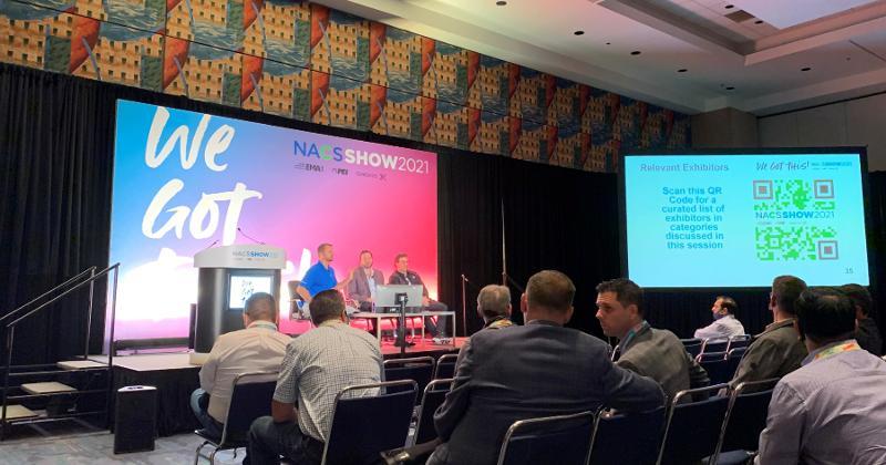 John Nelson, Jeffry Harrison and Chase Thomason speak at NACS