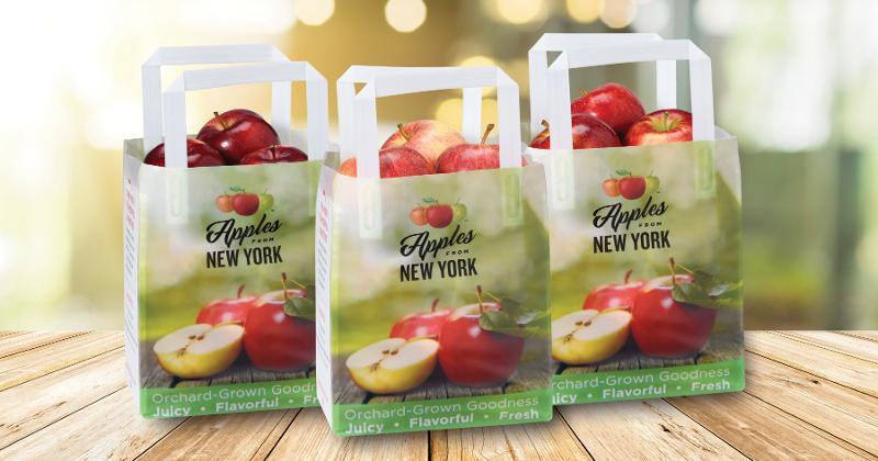 Apples in bags