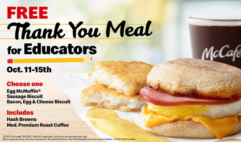 McDonald's Thank You Meal