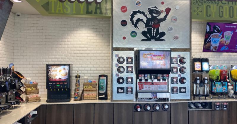 Stinker Stores beverage area