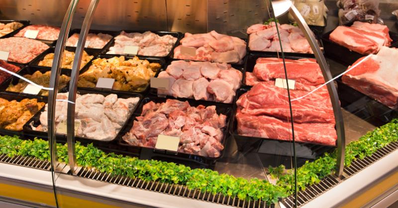 fresh meat case