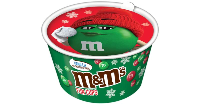 M&M's Ice Cream Holiday Fun Cups