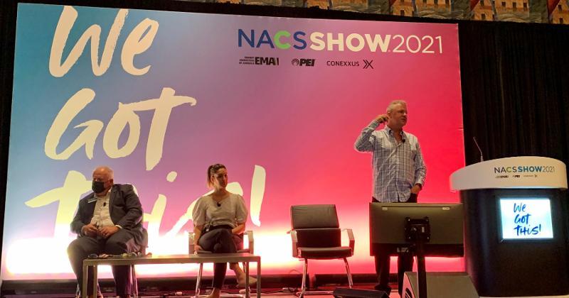 Todd Bollig talks at NACS