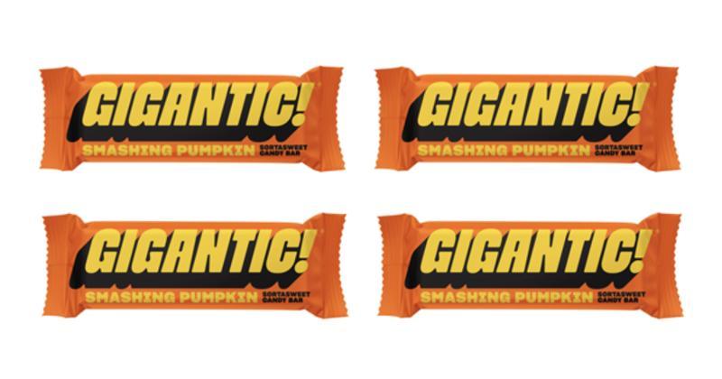Gigantic! Smashing Pumpkin candy bar