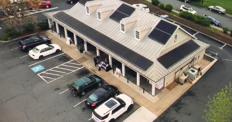Solar panels atop Tiger Fuels c-store