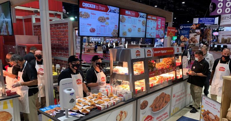 Krispy Krunchy Chicken stand at 2021 NACS Show