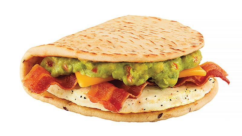 bacon guacamole flatbread sandwich