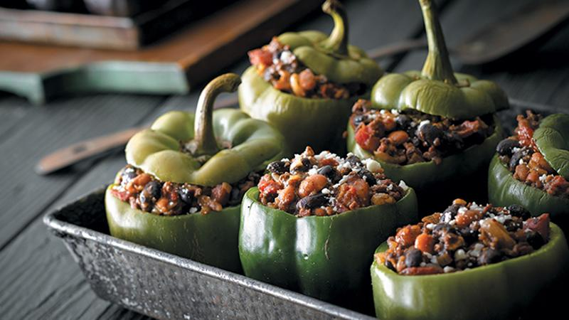 alternative protein bell peppers beans
