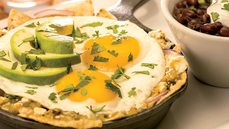 chilaquiles skillet beans