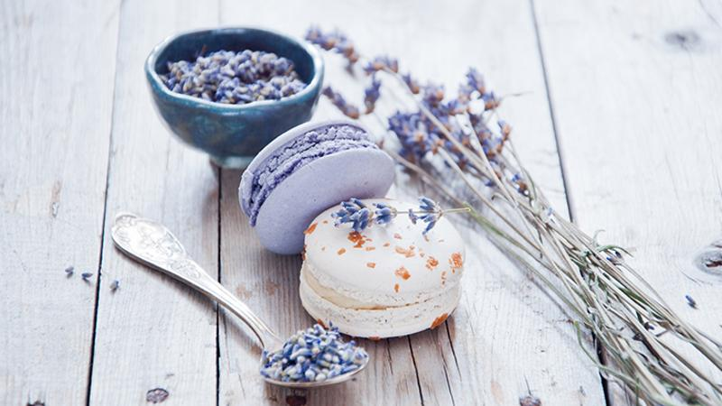 French Lavender macaroons