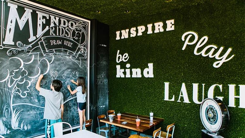 mendocino farms irvine chalkboard wall kids