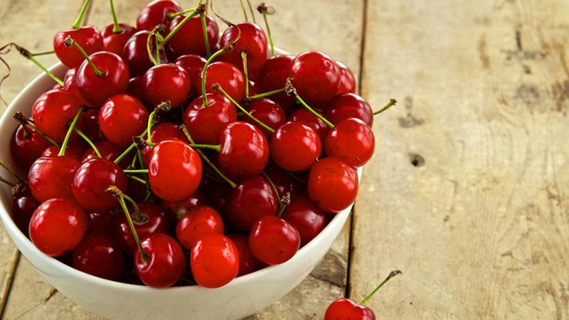 tart cherries in bowl