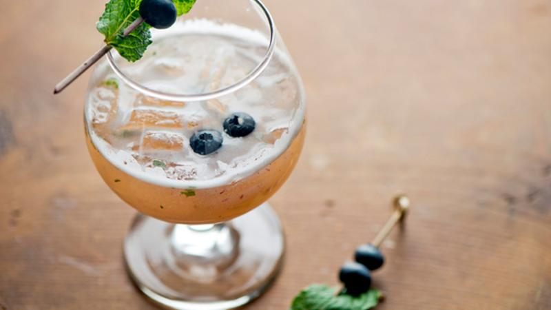 blueberry cocktail seasonal produce