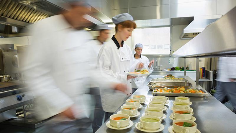 busy restaurant chefs
