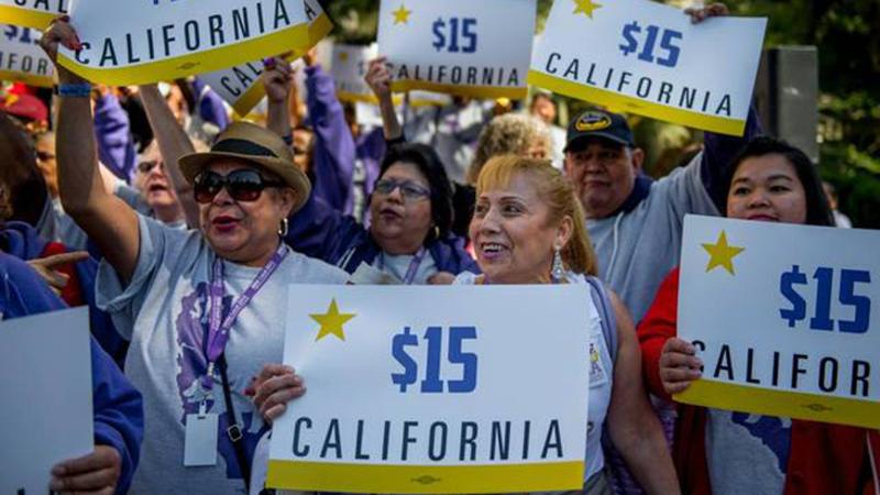 California $15 minimum wage