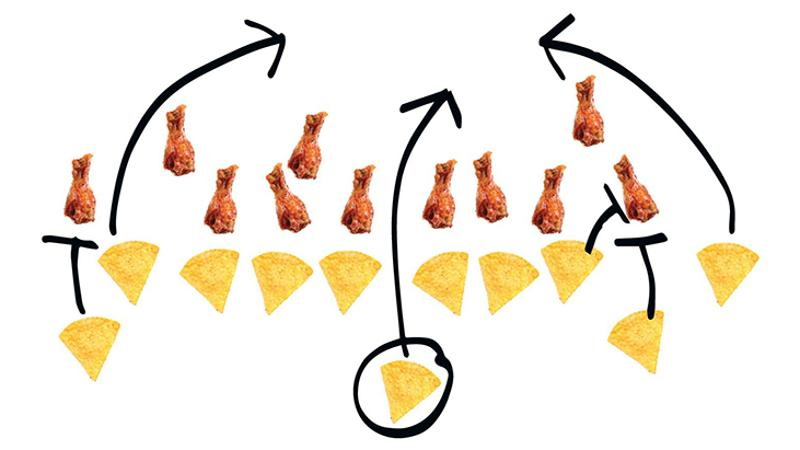 chips wings football play