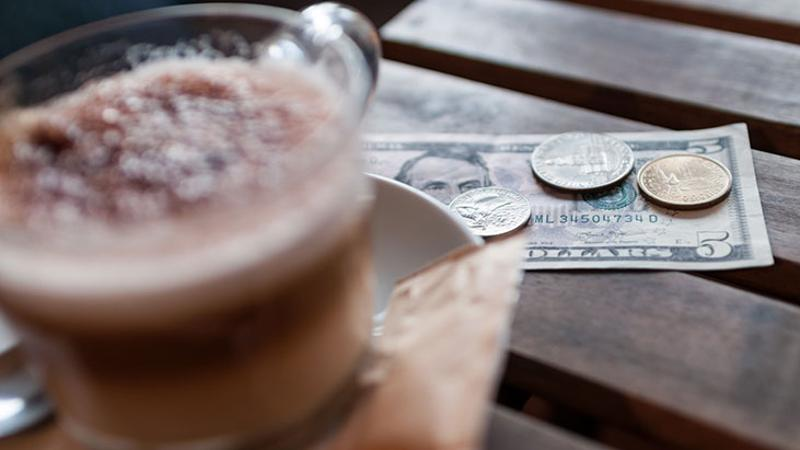 coffee cash tip