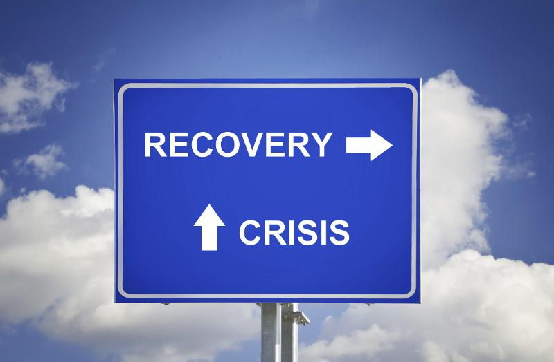 crisis recovery sign