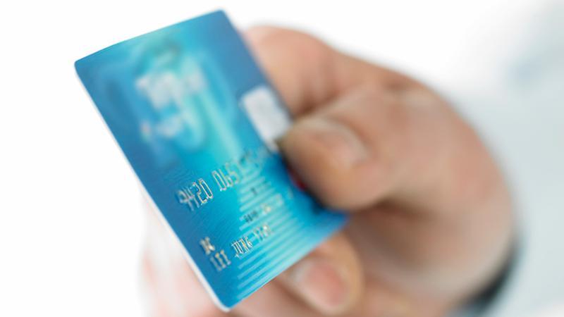 debit card hand