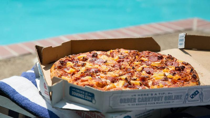 dominos pizza box pool