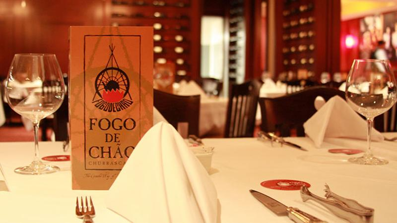 fogo de chao menu table