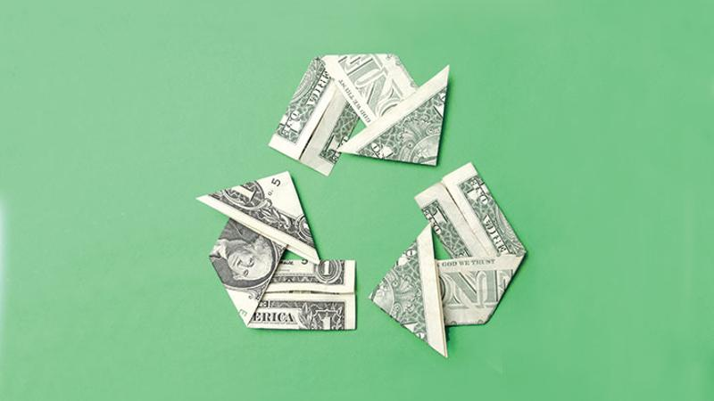 green recycling money