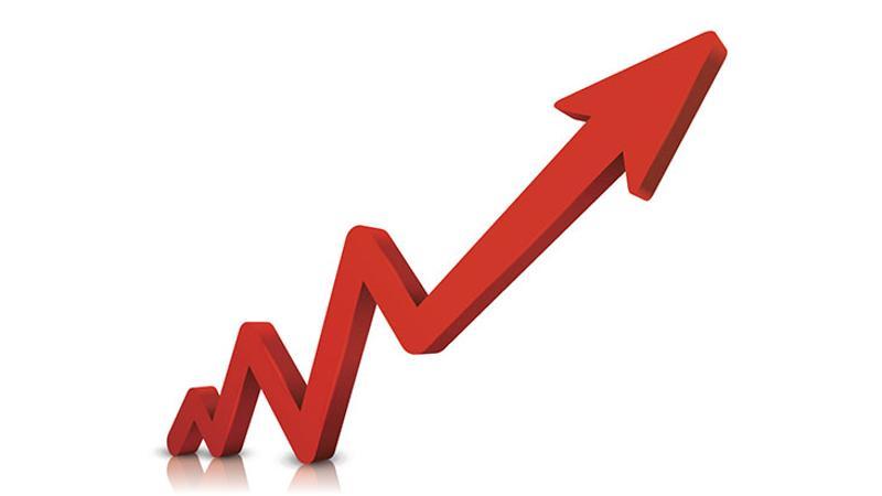 growth chart arrow graph
