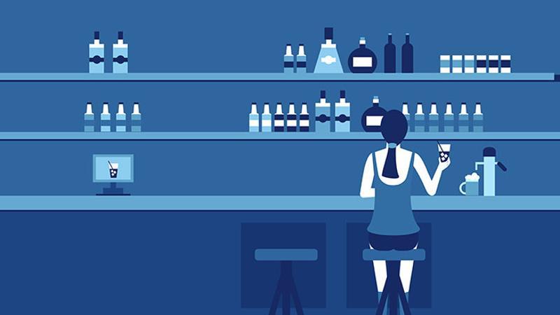high tech bar mixologist