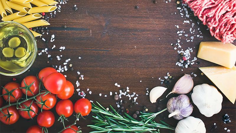 ingredients table food