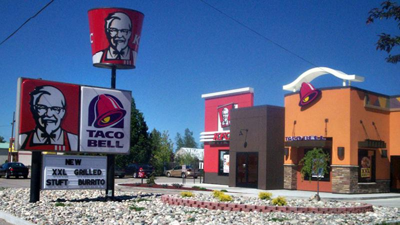 kfc taco bell yum
