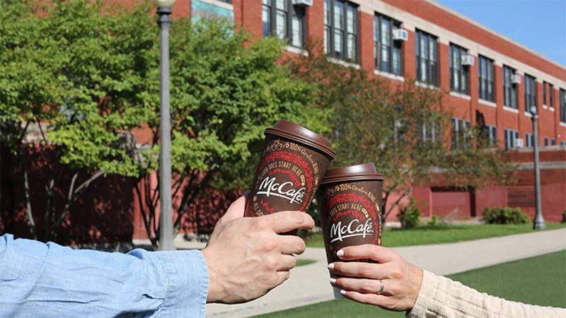 mcdonalds mccafe cups couple