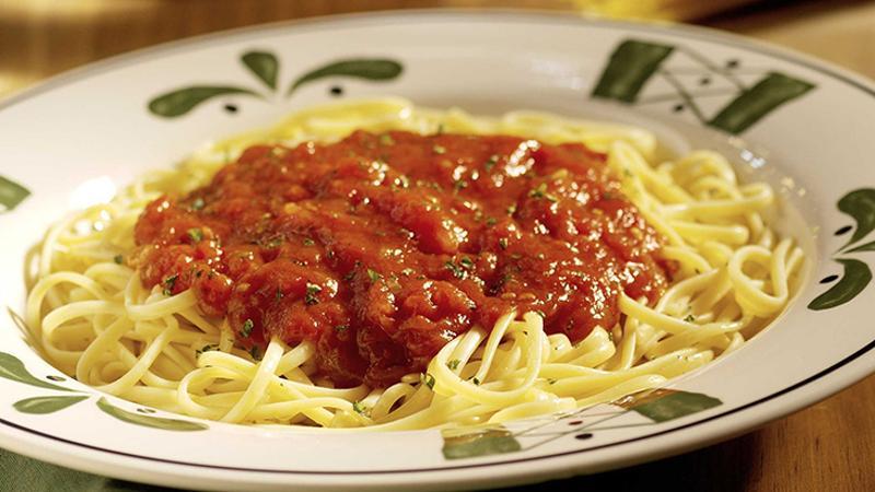 Olive Garden spaghetti pasta