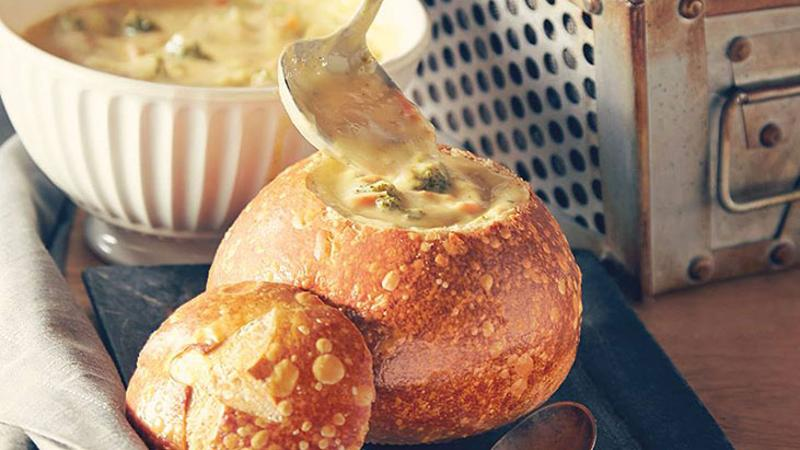 panera broccoli cheese soup bread bowl