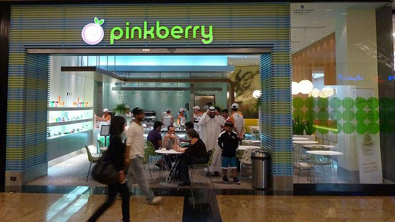 pinkberry mall exterior