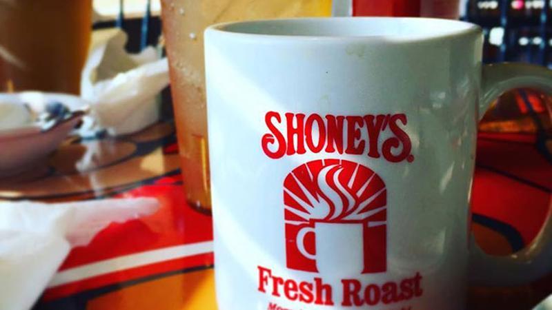 shoneys mug