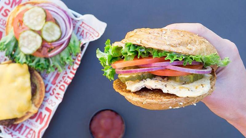 smashburger burger fries food