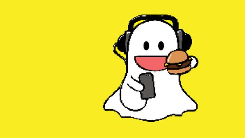 snapchat ghost burger