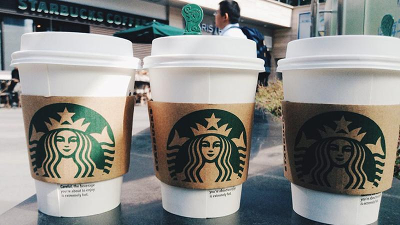 starbucks latte cups coffee
