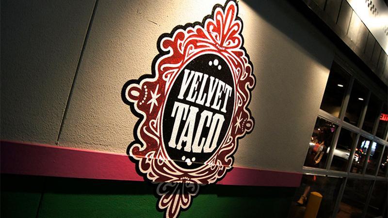 velvet taco sign