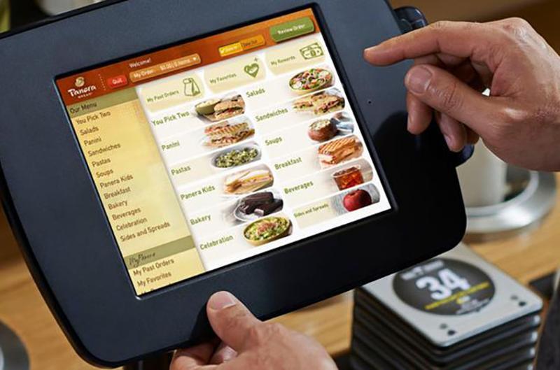 Panera fast lane kiosk ordering menu