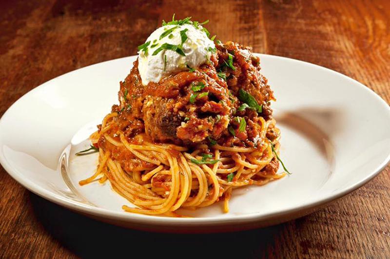 lavo nyc spaghetti waygu meatballs