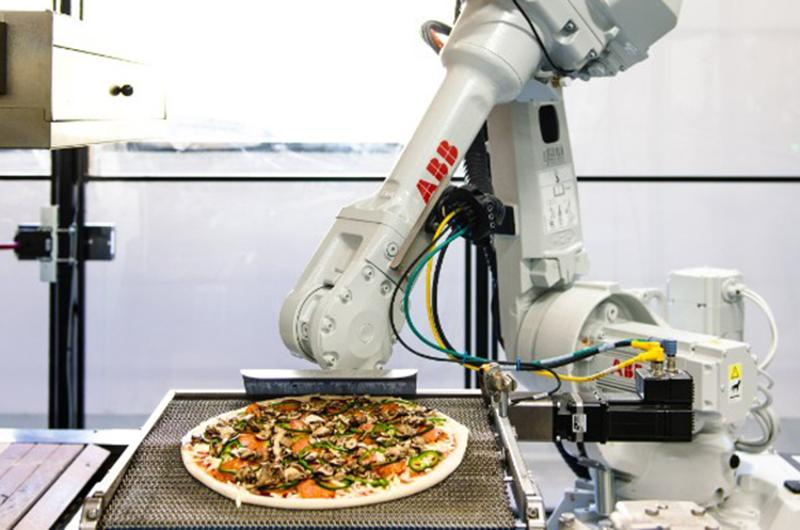 silicon valley pizza robotic arm